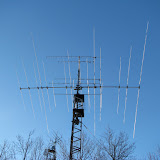 10/15/20m triband yagi and V/UHF FM vertical yagis @ 45