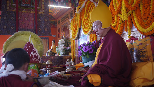 Long life puja at Kopan Monastery Dec 2010.