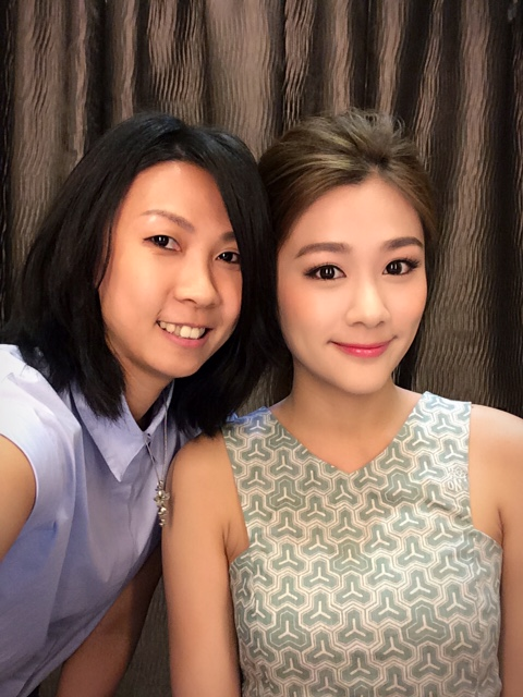 The Hong Kong Makeup Artist Krace Mak and Hong Kong pop star Eunice Chan