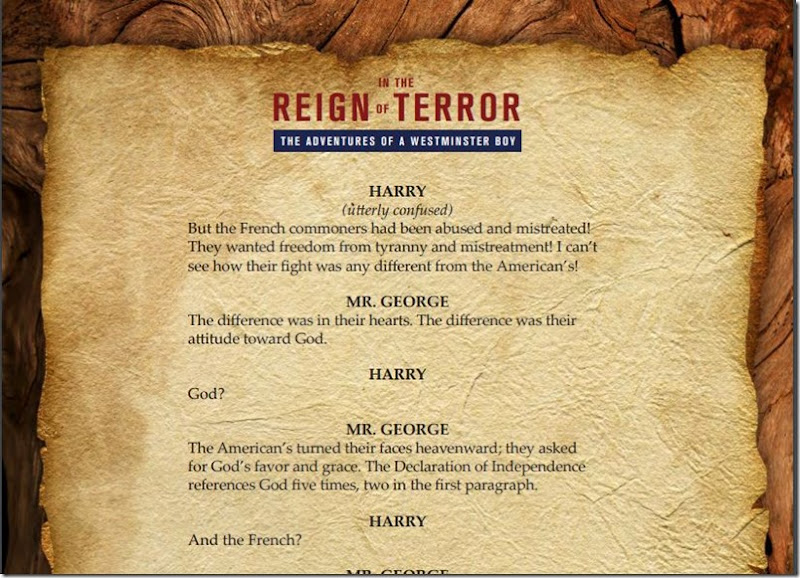 in the reign of terror script