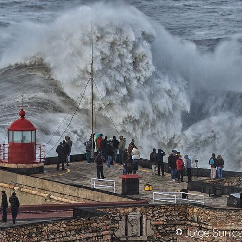 The Monster Waves at Nazare, Portugal
