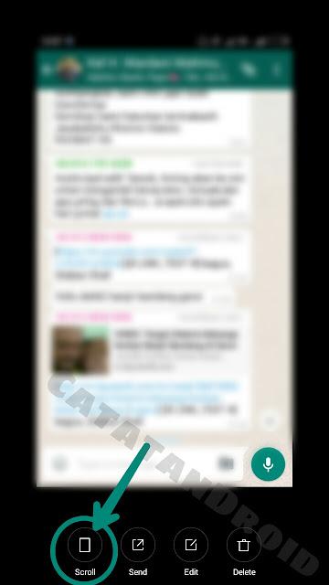 Ini Dia Cara Membuat Screenshot Bersambung Memanjang Chat BBM atau Whatsapp di Android MIUI 8