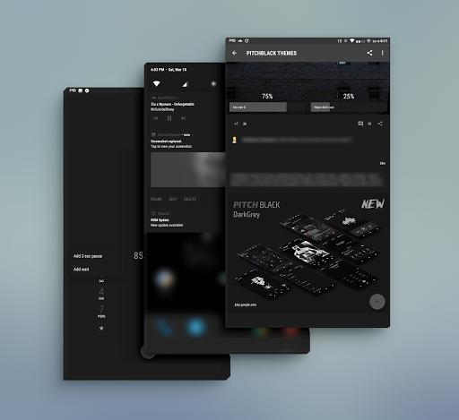 PitchBlack - Substratum Theme u272a Nougat/Oreo/Pie  screenshots 22
