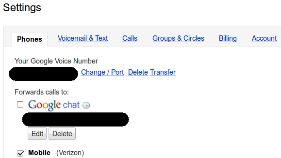 Why can't I disable receiving Google Voice calls via hangouts? WTF