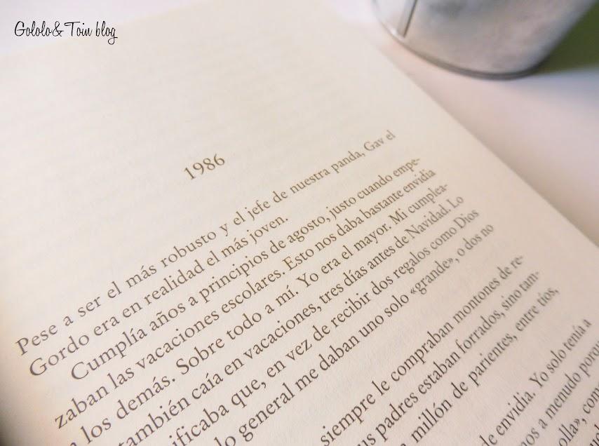novela El hombre de tiza