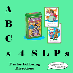 ABCs 4 SLPs: F is for Following Directions image