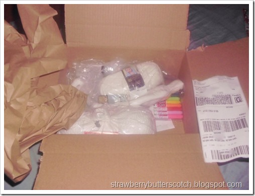 All the craft supplies I bought from Joann on Black Friday.  Great bargains!