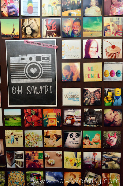 Instagram Inspired Door SNAP! 2013 via SewWoodsy.com
