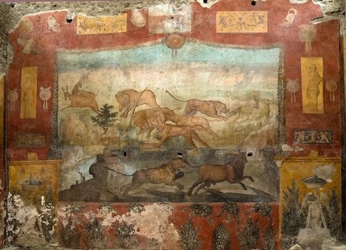 Πομπηία:  Εντυπωσιακή τοιχογραφία αποκαταστάθηκε  και στο «φως» σχεδόν άθικτο ρωμαϊκό άρμα  ΦΩΤΟ -ΒΙΝΤΕΟ