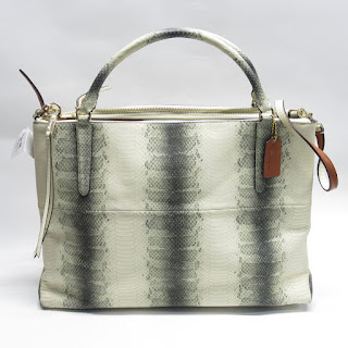 Coach NEW Python Print Shoulder Bag