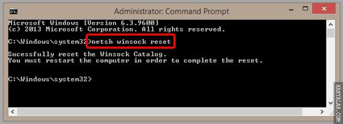 Percepat loading browser menggunakan netsh winsock
