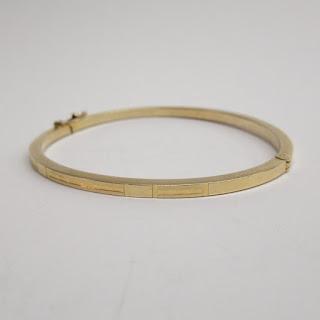 14K Gold Geometric Bracelet