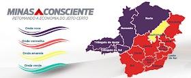 Macrorregiões Oeste, Centro-Sul e Sudeste regridem para a onda vermelha do Minas Consciente
