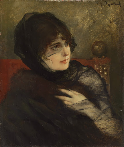 Friedrich August von Kaulbach - Young Woman in Black