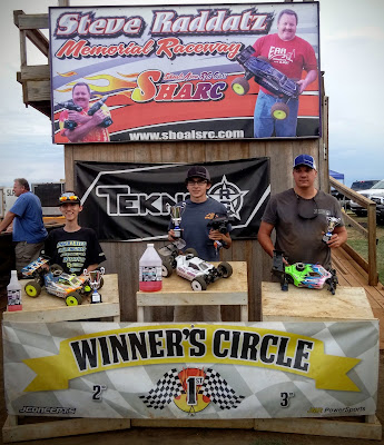 1/8 Nitro Buggy Pro 1st, TQ: Hunter Cupp 2nd: Tyler Parrish 3rd: Steven Froghorn