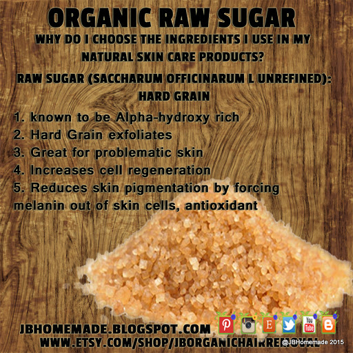 JBHomemade.com Ingredient Benefits Raw Sugar