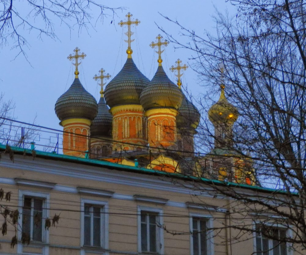 lovely orthodox church at sunset