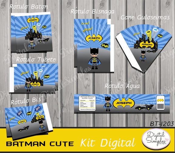 Kit Digital Batman Cute  .....artesdigitalsimples@gmail.com