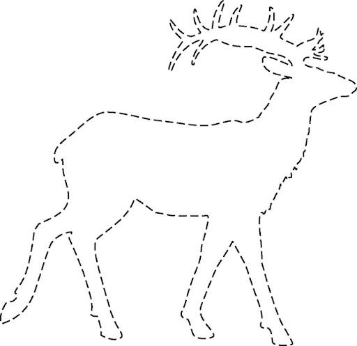 renos de navidad para recortar
