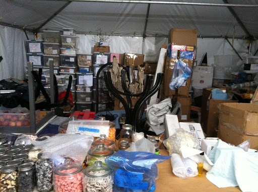 I can't believe that the tent is STILL organized!