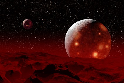 ilustração de um protoplaneta