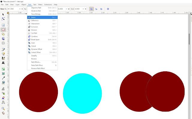 Cara Memotong Objek Inkscape Dengan Shaping