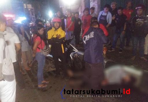Jabret Handphone tabrakan saat kabur di Sukabumi / Foto : Dian Syahputra Pasi