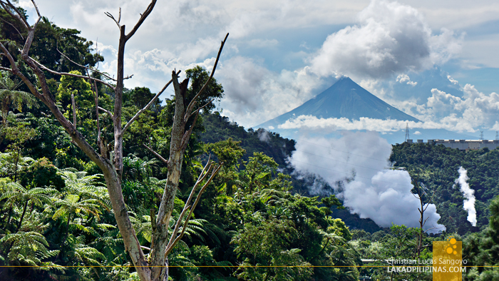 Mayon Volcano as seen from Bicol's BacMan Geothermal Plant