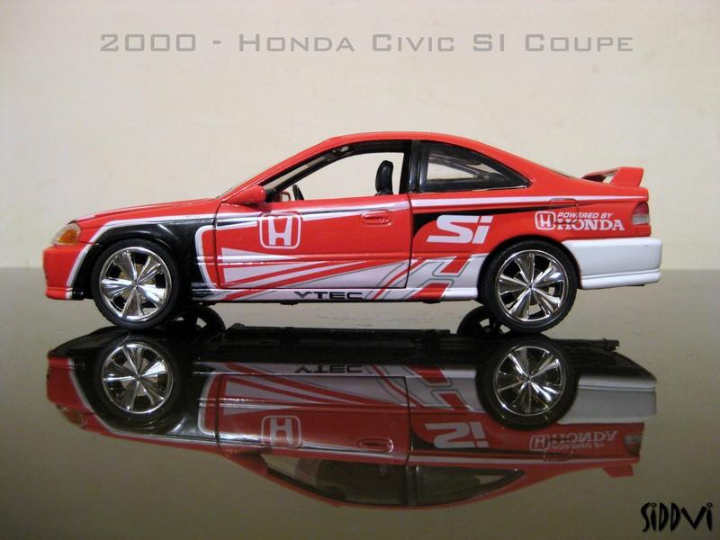 auto diecast scale models 2000 honda civic si coupe auto diecast models. Black Bedroom Furniture Sets. Home Design Ideas