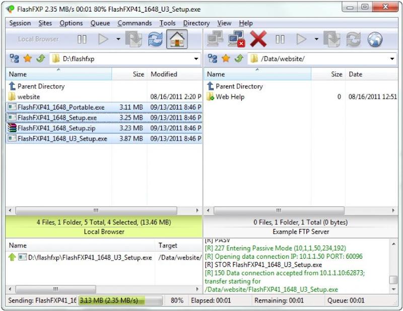 برنامج رفع الملفات لسيرفر المواقع FlashFXP 5.4.0 build 3954 كامل
