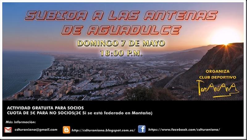 Cartel Ruta de las Antenas de Aguadulce 2017