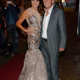WWW.ENTSIMAGES.COM -     Lizzie Cundy and Paul Nicholas at    WAG! The Musical - press night at Charing Cross Theatre, The Arches, Villiers Street, London July 24th 2013                                                 Photo Mobis Photos/OIC 0203 174 1069