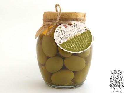 Оливки зелені з кісточкою