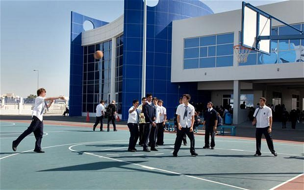Bahrain - basketball game at British School in Bahrain