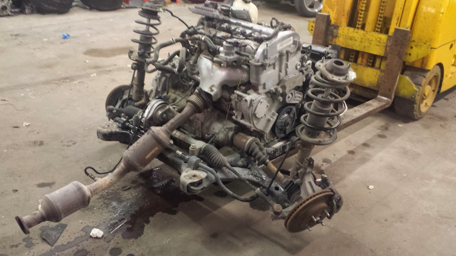 Subframe and powertrain