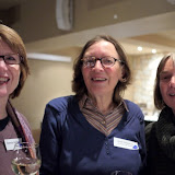 Brenda Hamilton (L) and Kath Harper (R) with Honorary Life Member Janet Mackenzie