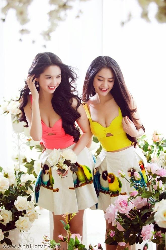 Ngọc Trinh & Linh Chi đọ dáng