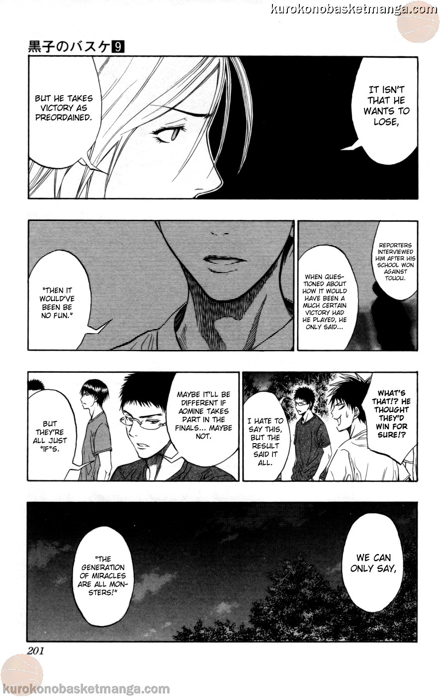 Kuroko no Basket Manga Chapter 80 - Image 15