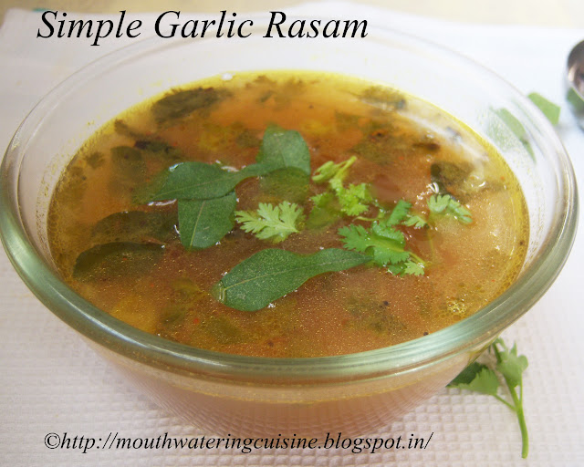 Simple Garlic Rasam