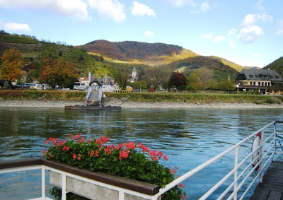 Ferry across the Danube, Wachau. From Austria for Wine Lovers