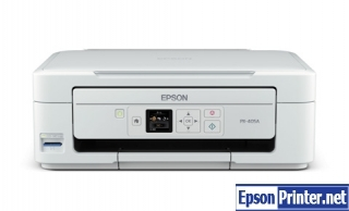 How to reset flashing lights for Epson PX-405A printer