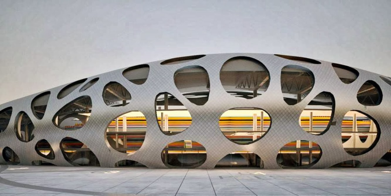 Barysaŭ, Bielorussia: Borisov Football Stadium by Ofis Architects