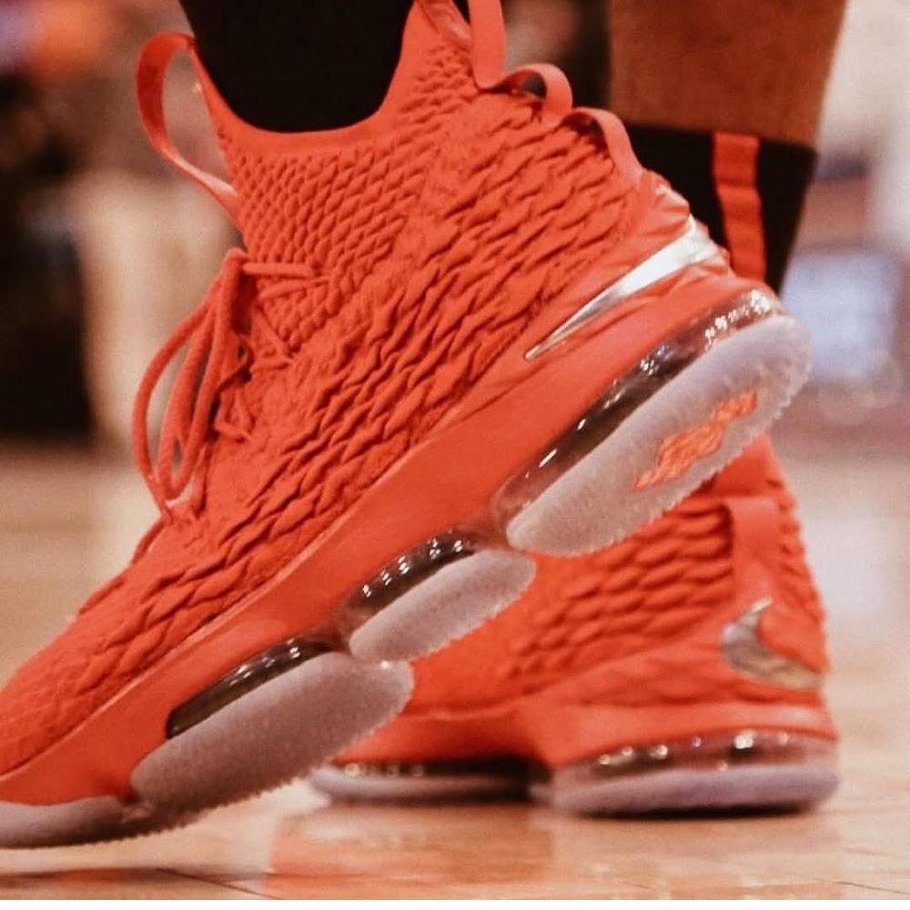 b10bf2cd12d Nike LeBron XV Ohio State University Player Exclusive ...