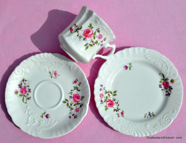 1940s Hammersley teacup, saucer, tea plate