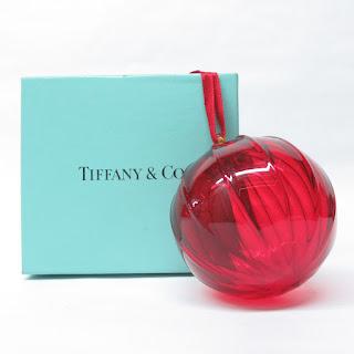 Tiffany & Co. Red Glass Ornament