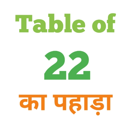 22 Ka Pahada ( 22 का पहाड़ा ) 22 ka pahada in hindi - Group Exam