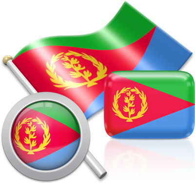 Eritrean flag icons pictures collection