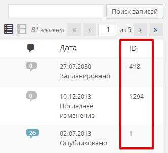 Возвращаем столбик «ID» в админку WordPress