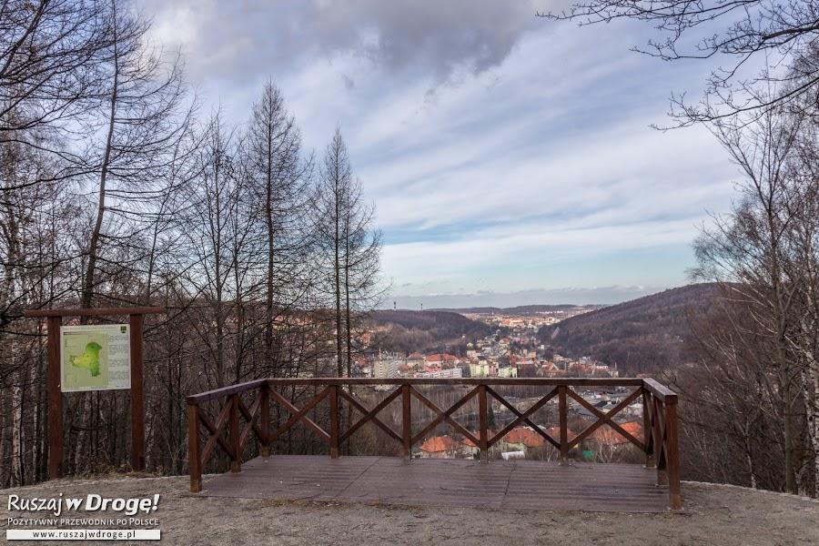 Punkt widokowy na Górze Parkowej w Parku Miejskim w Wałbrzychu