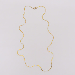 14K Gold Flat Chain Necklace